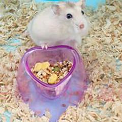 Недорогие Аксессуары для мелких животных-Грызуны пластик Миски и бутылки с водой Лиловый / Розовый / Синий