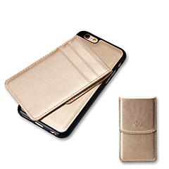 Для Бумажник для карт Кейс для Задняя крышка Кейс для Один цвет Мягкий Искусственная кожа для AppleiPhone 7 Plus iPhone 7 iPhone 6s