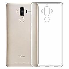 Недорогие Чехлы и кейсы для Huawei Mate-ASLING Кейс для Назначение Huawei Защита от пыли / Ультратонкий / Прозрачный Кейс на заднюю панель Однотонный Мягкий ТПУ для Honor 6X / Mate 9 / Huawei Enjoy 6s