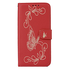 Para Porta-Cartão Carteira Com Suporte Flip Com Relevo Capinha Corpo Inteiro Capinha Borboleta Rígida Couro PU para HTC HTC 10 HTC One X9