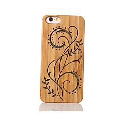 Для Защита от удара Рельефный С узором Кейс для Задняя крышка Кейс для Цветы Твердый Бамбук для Apple iPhone 6s/6