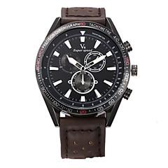 남성용 스포츠 시계 드레스 시계 패션 시계 손목 시계 석영 천연 가죽 밴드 참 캐쥬얼 멀티컬러