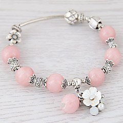 Women's Charm Bracelet Strand Bracelet Crystal Fashion Simple Style Personalized European Costume Jewelry Resin Shell Alloy Flower Jewelry