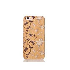 Для Защита от удара Кейс для Задняя крышка Кейс для Цветы Твердый Бамбук для Apple iPhone 6s/6
