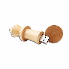 お買い得  USBメモリー-4GB USBフラッシュドライブ USBディスク USB 2.0 木製 小型 Wooden