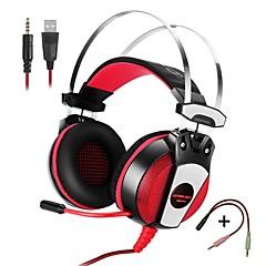 お買い得  ヘッドホン(ヘッドバンドタイプ)-KOTION EACH GS500 ヘッドホン(ヘッドバンド型)For携帯電話 コンピュータWithマイク付き ボリュームコントロール ゲーム ノイズキャンセ