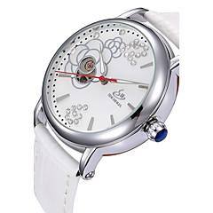 voordelige Herenhorloges-Heren Sporthorloge Dress horloge Skeleton horloge Modieus horloge Polshorloge mechanische horloges Automatisch opwindmechanisme Echt leer