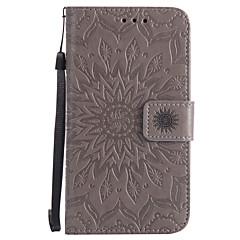 Недорогие Чехлы и кейсы для Nokia-Кейс для Назначение Nokia Lumia 630 Nokia Lumia 640 Nokia Бумажник для карт Кошелек со стендом Флип С узором Рельефный Чехол Мандала