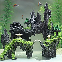 voordelige Aquariumversiering-Aquarium Decoratie Back Row Center Bridge Decor Ornamenten Niet-giftig & Smaakloos Hars