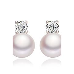 abordables Bijoux pour Femme-Femme Boucles d'oreille goujon Boucles d'oreille goutte - Imitation de perle Blanc Pour Mariage Soirée Quotidien / Décontracté