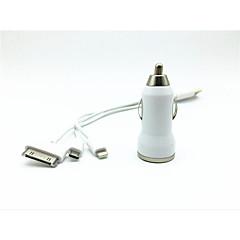Недорогие Автоэлектроника-универсальный Двойной автомобилей USB зарядное устройство с зарядки кабель для Iphone 5 / 5S / iphone 4 / 4s / Samsung (20 см)