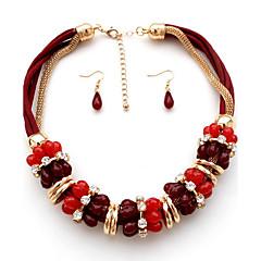 abordables Collares-Mujer Otros Personalizado Lujo Moda Euramerican Europeo Juego de Joyas Strands Collares Joyas Piedras preciosas sintéticas Legierung