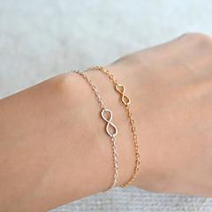 voordelige Damessieraden-Dames Oneindigheid Armbanden met ketting en sluiting - Bohémien Standaard Modieus Oneindigheid Goud Zilver Armbanden Voor Kerstcadeaus