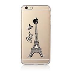 Недорогие Кейсы для iPhone 5-Кейс для Назначение Apple iPhone 7 / iPhone 7 Plus Прозрачный / С узором Кейс на заднюю панель Эйфелева башня Мягкий ТПУ для iPhone 7 Plus / iPhone 7 / iPhone 6s Plus