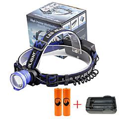 U'King Hoofdlampen Koplamp LED 2000 lm 3 Modus Cree XM-L T6 inklusive Batterien und Ladegerät Zoombare Alarm Verstelbare focus Compact