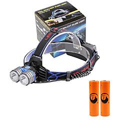 U'King Linternas de Cabeza Faro Delantero LED 4000 lm 3 Modo Cree XM-L T6 con pilas Tamaño Compacto Emergencia fuente de alimentación