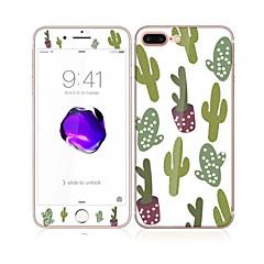 Недорогие Защитные пленки для iPhone 7-Защитная плёнка для экрана Apple для iPhone 7 Закаленное стекло 1 ед. Защитная пленка для экрана и задней панели Узор