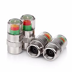 abordables Piezas para el Coche-ziqiao 4pcs / set presión de los neumáticos de coche válvula monitor de tapa del vástago de alerta indicador sensor ojo