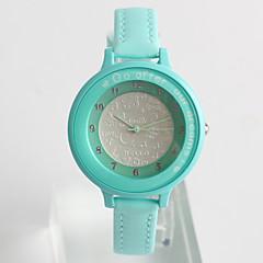 abordables Novedades-Reloj de Moda Cuarzo / PU Banda Casual Azul