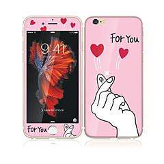 billige Skærmbeskyttere Til iPhone 6s / 6 Plus-til Apple iPhone 6s plus / 6 plus 5,5 hærdet glas med blød kant fuld skærm dækning foran og bagpå skærmbeskytter kærlighed til dig