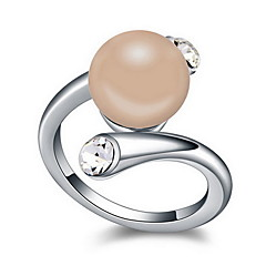 お買い得  指輪-女性用 指輪  -  真珠, 合金 自然 13 / 15 / 17 ダークブルー / グレー / 青銅色 用途 日常