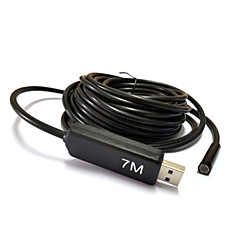 7m aparat de fotografiat USB endoscopul borescope șarpe lentilă 7mm 6 condus de inspecție rezistent la apă pentru pc