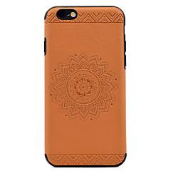 Для Рельефный С узором Кейс для Задняя крышка Кейс для Мандала Мягкий Искусственная кожа для AppleiPhone 7 Plus iPhone 7 iPhone 6s Plus