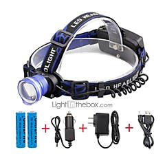 U'King Headlamps Headlight LED 2000 lm 3 Mode Cree XM-L T6 with Batteries and Chargers Zoomable Alarm Adjustable Focus Compact Size Easy