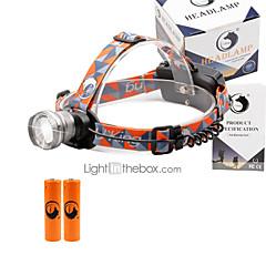 preiswerte Stirnlampen-2000 lm lm Stirnlampen LED 3 Modus - U'King Zoomable- / einstellbarer Fokus / Kompakte Größe
