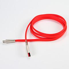 voordelige Telefoonkabels & Adapters-Micro USB 2.0 USB 2.0 USB kabeladapter draagbaar Kabel Voor Samsung Huawei LG Nokia Lenovo Motorola Xiaomi HTC Sony 100 cm PVC Metaal