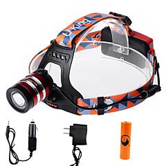 U'King Czołówki Reflektor LED 1000 lm 3 Tryb Cree XM-L T6 z baterią i ładowarkami Zoomable Regulacja promienia Łatwe przenoszenie High