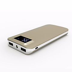 banco do poder de bateria externa 5V #A Carregador de bateria Lanterna Output Múltiplo QC 2.0 QC 3.0 Ultra Fino LCD