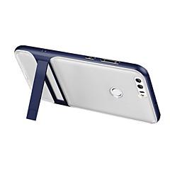 tanie Etui / Pokrowce do Huawei-Kılıf Na Huawei Z podpórką Przezroczyste Czarne etui Solid Color Twarde Silikonowy na P8 Lite (2017) Honor 8 Huawei