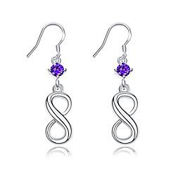 preiswerte Ohrringe-Damen Kristall Tropfen-Ohrringe - versilbert Geometrisch Silber Für Hochzeit Party Alltag