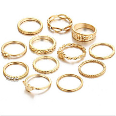 お買い得  指輪-女性用 合金 リングセット - ヴィンテージ ゴールド リング 用途 日常