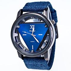 preiswerte Damenuhren-Herrn Damen Armbanduhr Quartz Armbanduhren für den Alltag Stoff Band Analog Modisch Elegant Schwarz / Blau / Rot - Grün Blau Rosa
