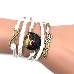 Bracelet Bracelets Bracelets en cuir Cuir Forme d'Animal Amour Cheval Bohemia style Fait à la main Anniversaire Sports Bijoux CadeauNoir