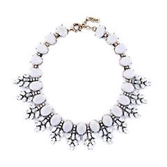お買い得  ネックレス-女性用 カラー  -  リーフ ユニーク ホワイト ネックレス ジュエリー 用途 おめでとう, ありがとうございました, 贈り物