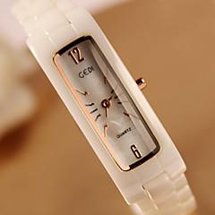 preiswerte Damenuhren-Damen Armbanduhr Keramik Band Modisch Gold