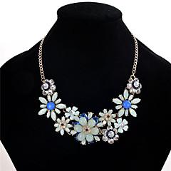 preiswerte Halsketten-Damen Multi-Stein, Kristall, Strass Statement Ketten - Krystall, Strass Anderen, Blume Schwarz, Rosa, Leicht Grün / Blumig