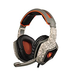 sades SA-917 profesjonell gaming headset surround stereo hodetelefoner USB-kontakt med mikrofon for PC bærbare