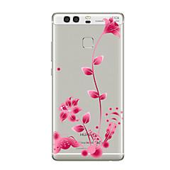 お買い得  Huawei Pシリーズケース/ カバー-ケース 用途 Huawei社P9 Huawei社P9ライト Huawei社P8 Huawei Huawei社P9プラス Huawei社P8ライト Huawei社メイト8 クリア パターン バックカバー フラワー ソフト TPU のために P10 Plus P10 Lite
