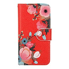 cheap iPhone 5S / SE Cases-Case For Apple Card Holder Wallet with Stand Flip Full Body Cases Flower Hard PU Leather for iPhone 6s Plus iPhone 6s iPhone 6 Plus