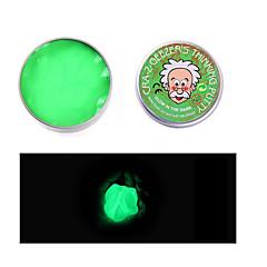 halpa -Magneettilelut Pelaa taikinaa, muovailua ja kittiä Lievittää stressiä 1 Pieces Lelut Hehkuu pimeässä Magneetti DIY Fluoresoiva Vaihtuva