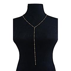 preiswerte Halsketten-Damen Y Halskette - Quaste, Modisch, Euramerican Multi-Wege-Verschleiß Gold, Silber Modische Halsketten Schmuck Für Party, Besondere Anlässe, Alltag