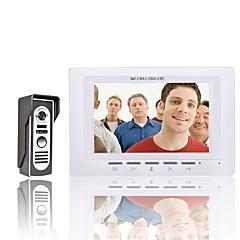 abordables Sistemas de Control de Acceso-Mountainone 7 pulgadas de video portero de teléfono timbre intercomunicador 1 cámara 1 monitor de visión nocturna