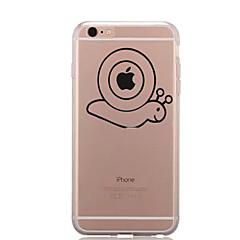 Недорогие Кейсы для iPhone-Кейс для Назначение Apple iPhone 7 / iPhone 7 Plus Прозрачный / С узором Кейс на заднюю панель Композиция с логотипом Apple Мягкий ТПУ для iPhone 7 Plus / iPhone 7 / iPhone 6s Plus