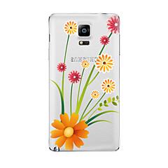 Недорогие Чехлы и кейсы для Galaxy Note 5-Кейс для Назначение SSamsung Galaxy Прозрачный С узором Кейс на заднюю панель Цветы Мягкий ТПУ для Note 5 Note 4 Note 3 Note 2