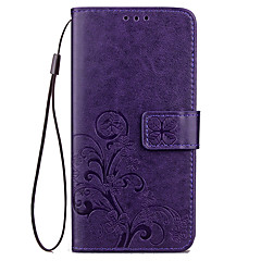 voordelige Hoesjes / covers voor Xiaomi-Voor Portemonnee Kaarthouder met standaard Reliëfopdruk hoesje Volledige behuizing hoesje Effen kleur Hard PU-leer voor XiaomiXiaomi