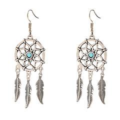 preiswerte Ohrringe-Damen Einzelkette Anhänger Ohrringe baumeln - Feder Einzigartiges Design, Anhänger Stil, Quaste Silbern Für Alltag Normal